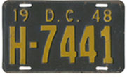 1948 Hire plate no. H-7441