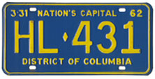 1961 Hire (Taxi) plate no. HL-431