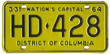 1963 (exp. 3-31-64) Hire plate no. HD-428