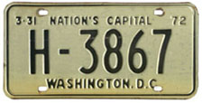 1971 (exp. 3-31-72) Hire plate no. H-3867