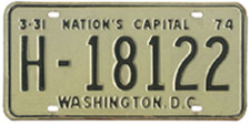 1973 (exp. 3-31-74) Hire plate no. H-18122