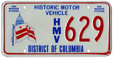 Historic Motor Vehicle plate no. 629
