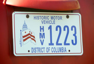 Historic Motor Vehicle plate no. 1223