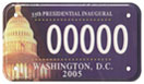 2005 Inaugural sample motorcycle plate no. 00000