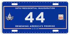 2009 Inaugural plate no. 44; click on image to see larger version