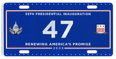 2009 Inaugural plate no. 47; click on image to see larger version