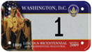 2009 Inaugural motorcycle plate no. 1: click to enlarge