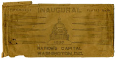 1937 Inaugural plate mailing envelope: click to enlarge