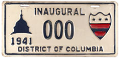 1941 Presidential Inauguration sample plate