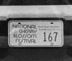 Click here to return to the National Cherry Blossom Festival plates page.