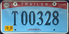 2007 OFM trailer license plate