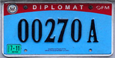 2007 base OFM U.N. Secretariat license plate no. 00270 A