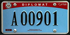 2007 base OFM OAS Representative license plate no. A 00901