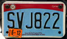 2007 base OFM Diplomatic Staff motorcycle license plate no. SVJ822
