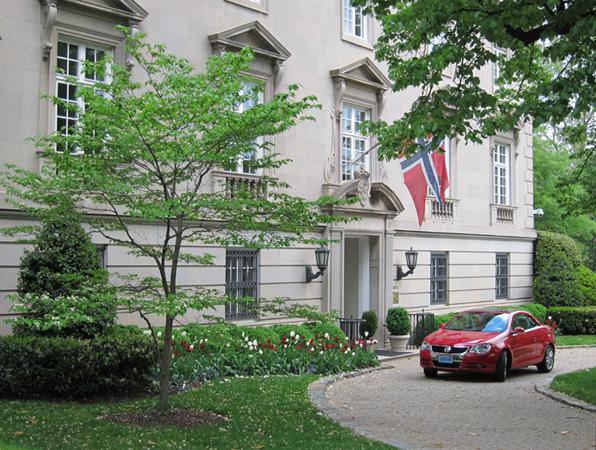 Royal Norwegian Embassy at 3401 Mass. Ave., NW