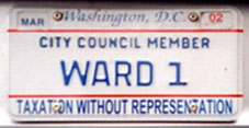 2000 Baseplate marked CITY COUNCIL MEMBER - WARD 1