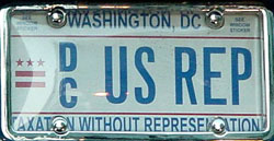 Current-style plate marked US REP