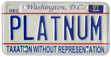2000 base Personalized plate no. PLATNUM validated through Dec. 2001