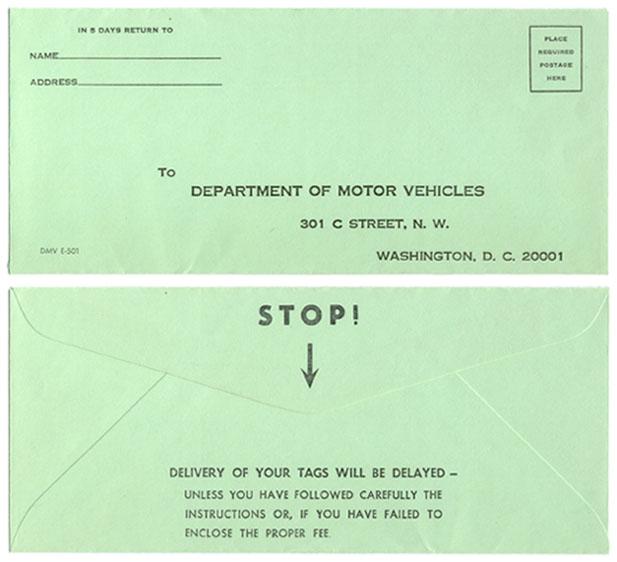 D.C. License Plate Ephemera
