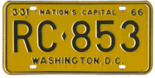 1965 (exp. 3-31-66) Rental plate no. RC-853