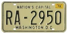 1968 (exp. 3-31-69) Rental plate validated for 1969 (exp. 3-31-70)