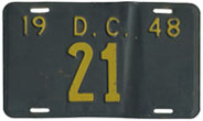 1948 Reserved Passenger plate no. 21