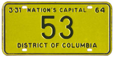 1963 Reserved plate no. 53