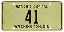 1968 reserved plate no. 41