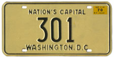 1969 reserved plate no. 301