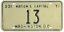 1970 reserved plate no. 13