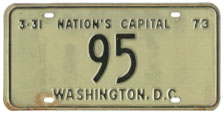 1972 reserved plate no. 95