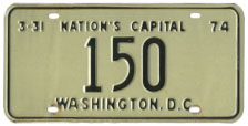 1973 reserved plate no. 150