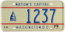 1978 reserved plate no. 1237