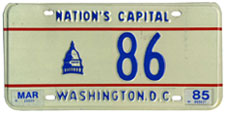 1984 reserved plate no. 86