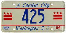 1985 reserved plate no. 425