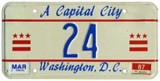 1986 reserved plate no. 24
