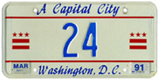 1990 reserved plate no. 24