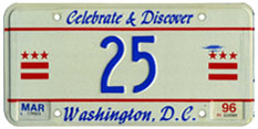 1995 reserved plate no. 25