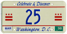 1997 reserved plate no. 25