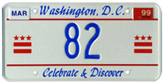 1998 reserved plate no. 82