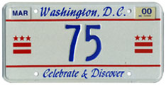 1999 reserved plate no. 75
