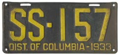 1933 Sightseeing Bus plate no. 157