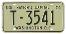1973 (exp. 3-31-74) Trailer plate no. T-3541
