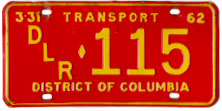 1961 (exp. 3-31-62) Transport plate no. 115