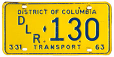 1962 (exp. 3-31-63) Transport plate no. 130