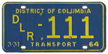 1963 (exp. 3-31-64) Transport plate no. 111