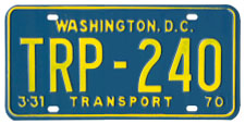 1969 (exp. 3-31-70) Transport plate no. 240