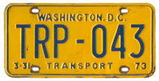1972 (exp. 3-31-73) Transport plate no. 43