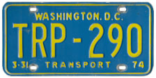 1973 (exp. 3-31-74) Transport plate no. 290