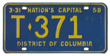 1957 Trailer plate no. T-371